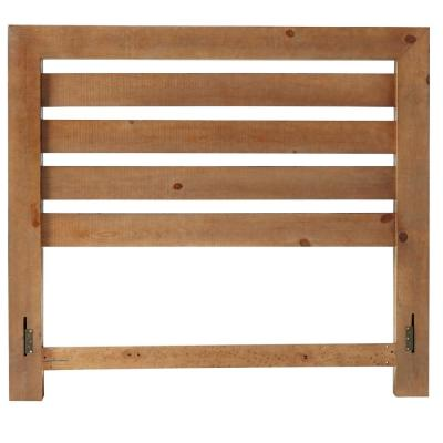 Willow Distressed Pine Queen Slat Headboard