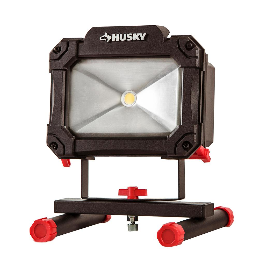 husky 1500 lumen rechargeable led work light k40067 the. Black Bedroom Furniture Sets. Home Design Ideas