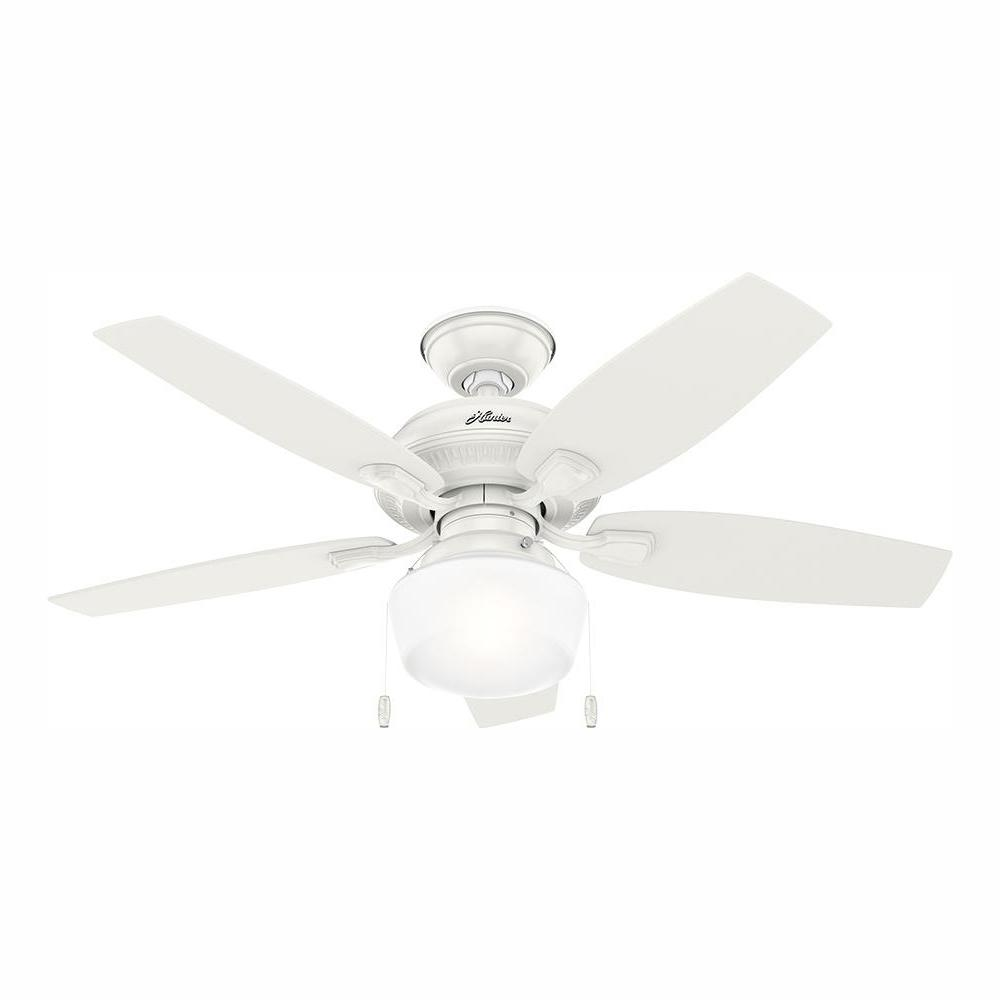 Hunter Hunter Cote 46 in. LED Indoor/Outdoor Fresh White Ceiling Fan with Light Kit