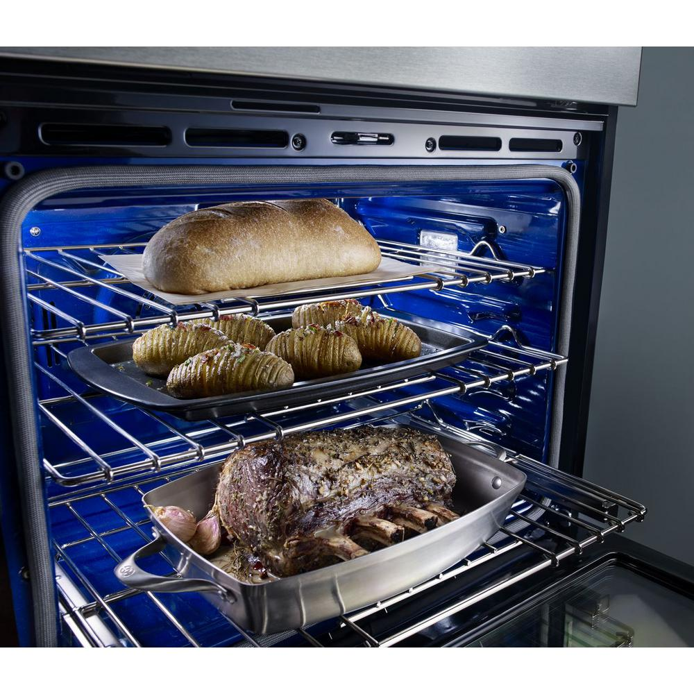 Kitchenaid 30 In Electric Even Heat True Convection Wall Oven With Built Microwave Stainless Steel