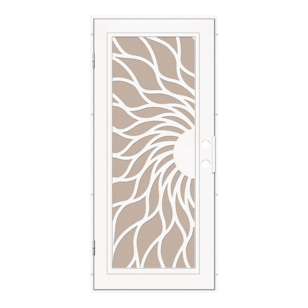 Unique Home Designs 30 in. x 80 in. Sunfire White Left-Hand Surface ...