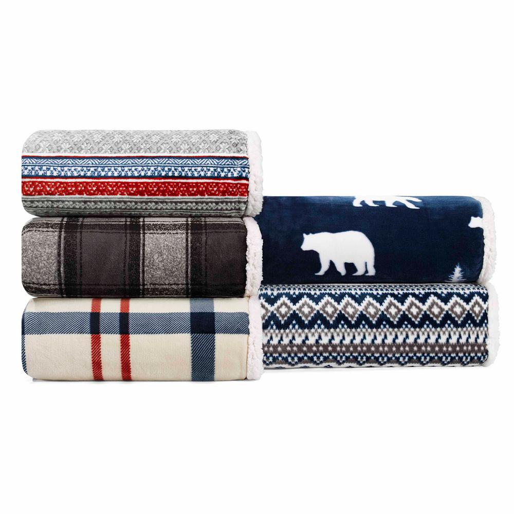 Eddie Bauer 60 in. x 70 in. Croton Plaid Throw-226309 - The Home Depot 1d315bcd7f34c
