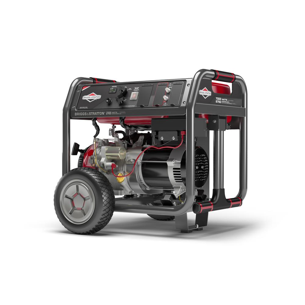 Briggs & Stratton Elite Series 7,000-Watt Gasoline Powered Electric Start  Portable Generator