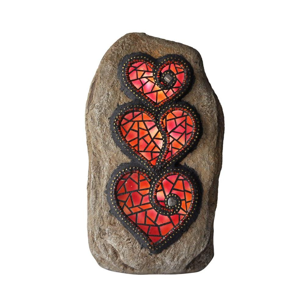 Chris Emmert Designs 11.5 in. Outdoor Polyresin LED Stacked Hearts