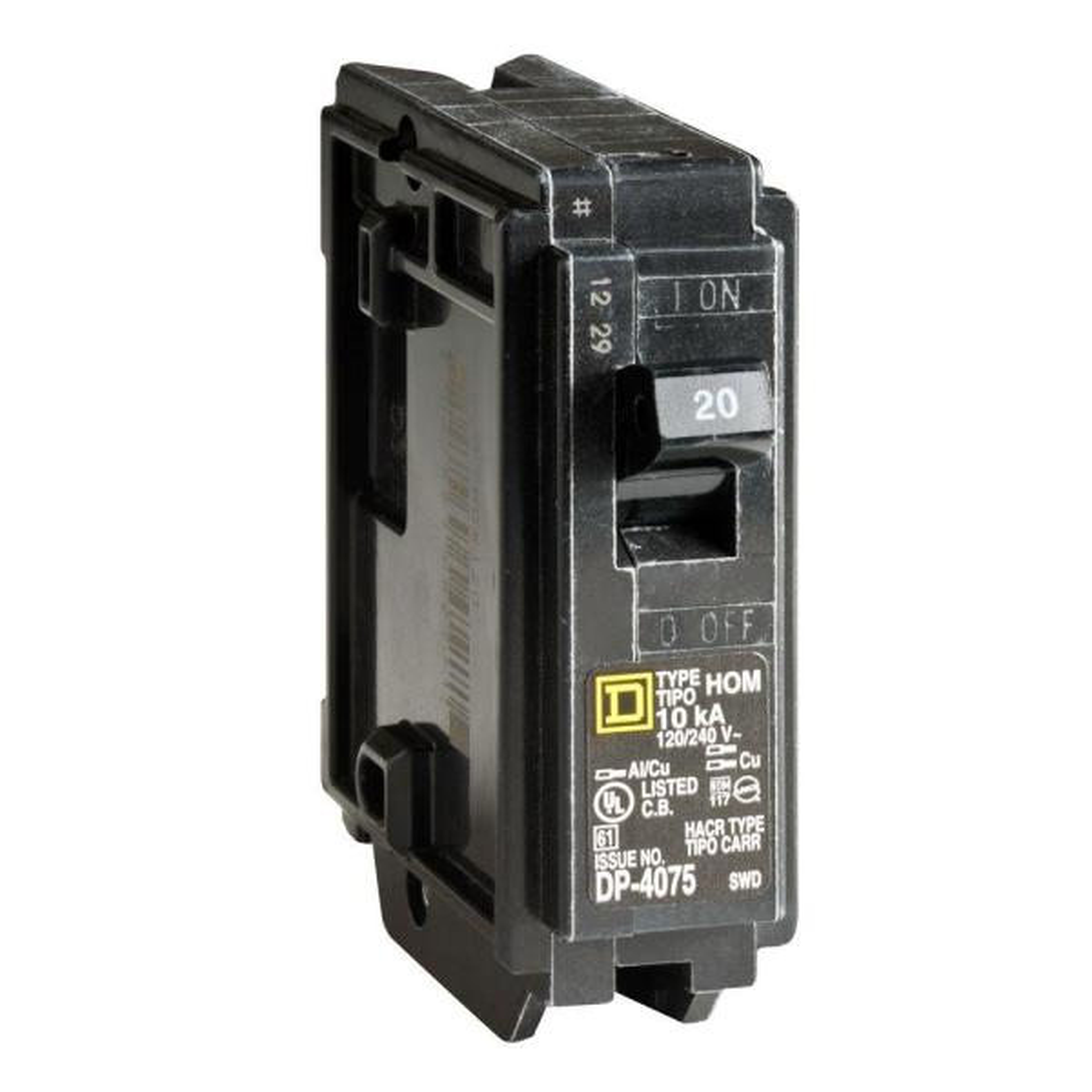 SQUARE D 20 AMP 1 POLE CIRCUIT BREAKER MODEL # AB-5310