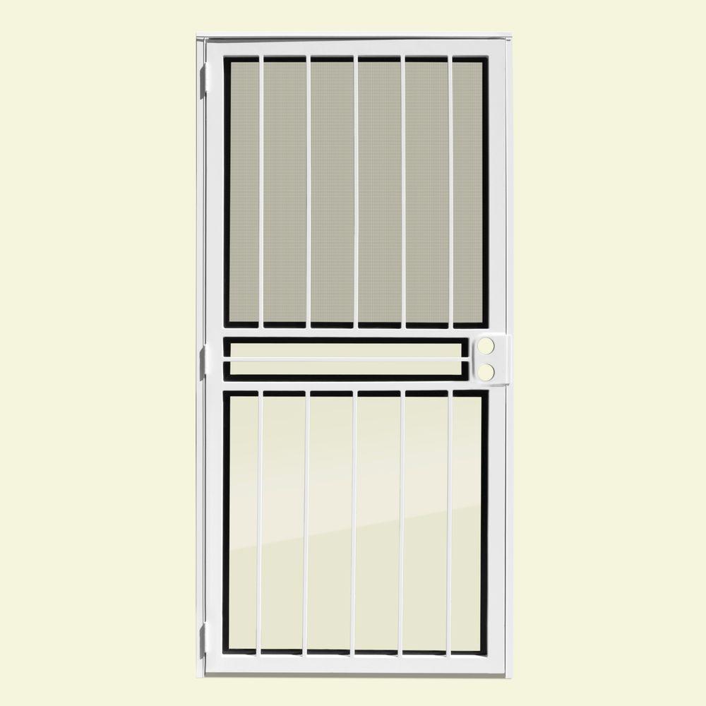 White - Unique Home Designs - Security Doors - Exterior Doors ...