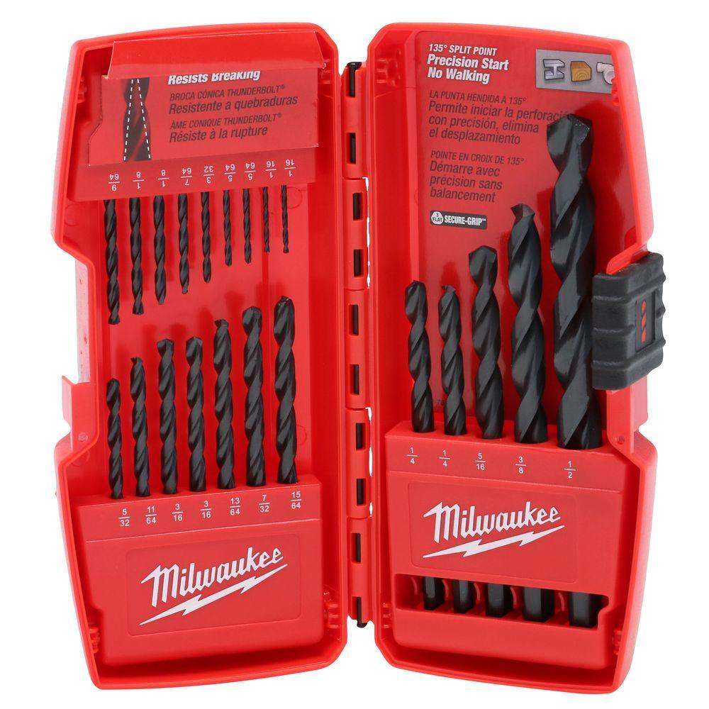Thunderbolt Black Oxide Drill Bit Set (21-Piece)