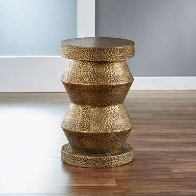 Antique Brass Chess Side Table