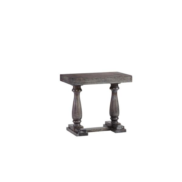 Muse Weathered Pepper Chairside Table