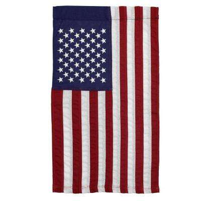 12 in. x 18 in. Cotton U.S. Garden Flag