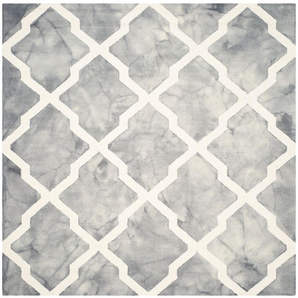 Safavieh Dip Dye Grey Ivory 7 Ft X Square Area Rug