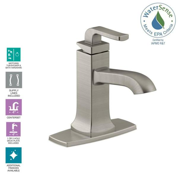 Kohler Rubicon Single Hole Single Handle Bathroom Faucet In Vibrant Brushed Nickel K R76214 4d Bn The Home Depot