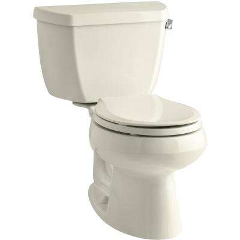 Wellworth 2-piece 1.28 GPF Single Flush Round Toilet in Almond