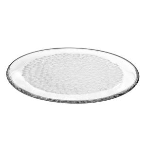 Orrefors Pearl Round Crystal Platter by Orrefors