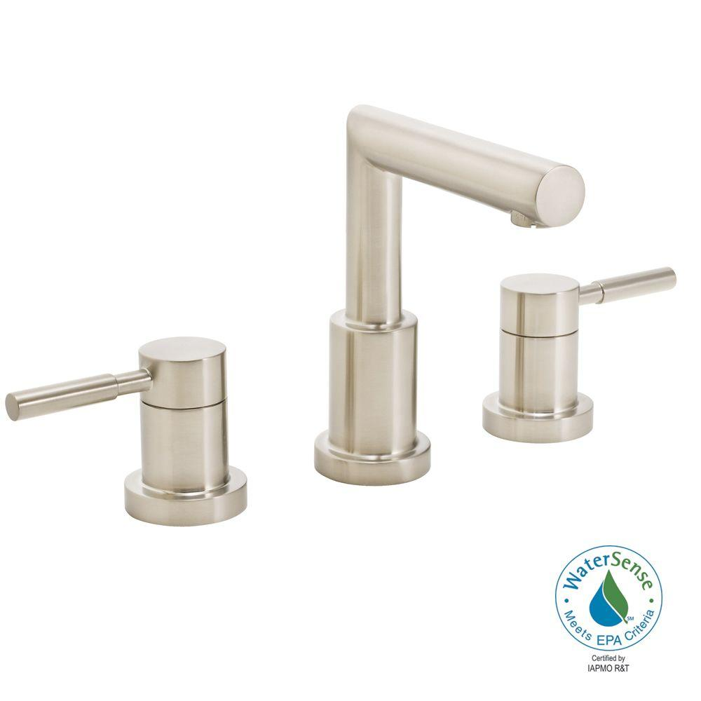 Speakman Neo 8 in. 2-Handle Bathroom Faucet in Brushed Nickel with Pop-Up Drain