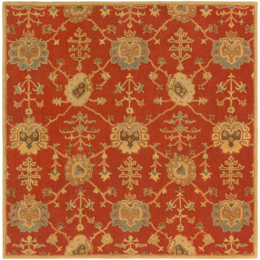 Avitus Rust 8 ft. x 8 ft. Square Indoor Area Rug