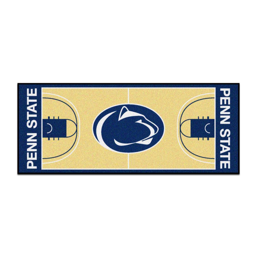 NCAA - Penn State Tan 3 ft. x 6 ft. Indoor Basketball Court Runner Rug
