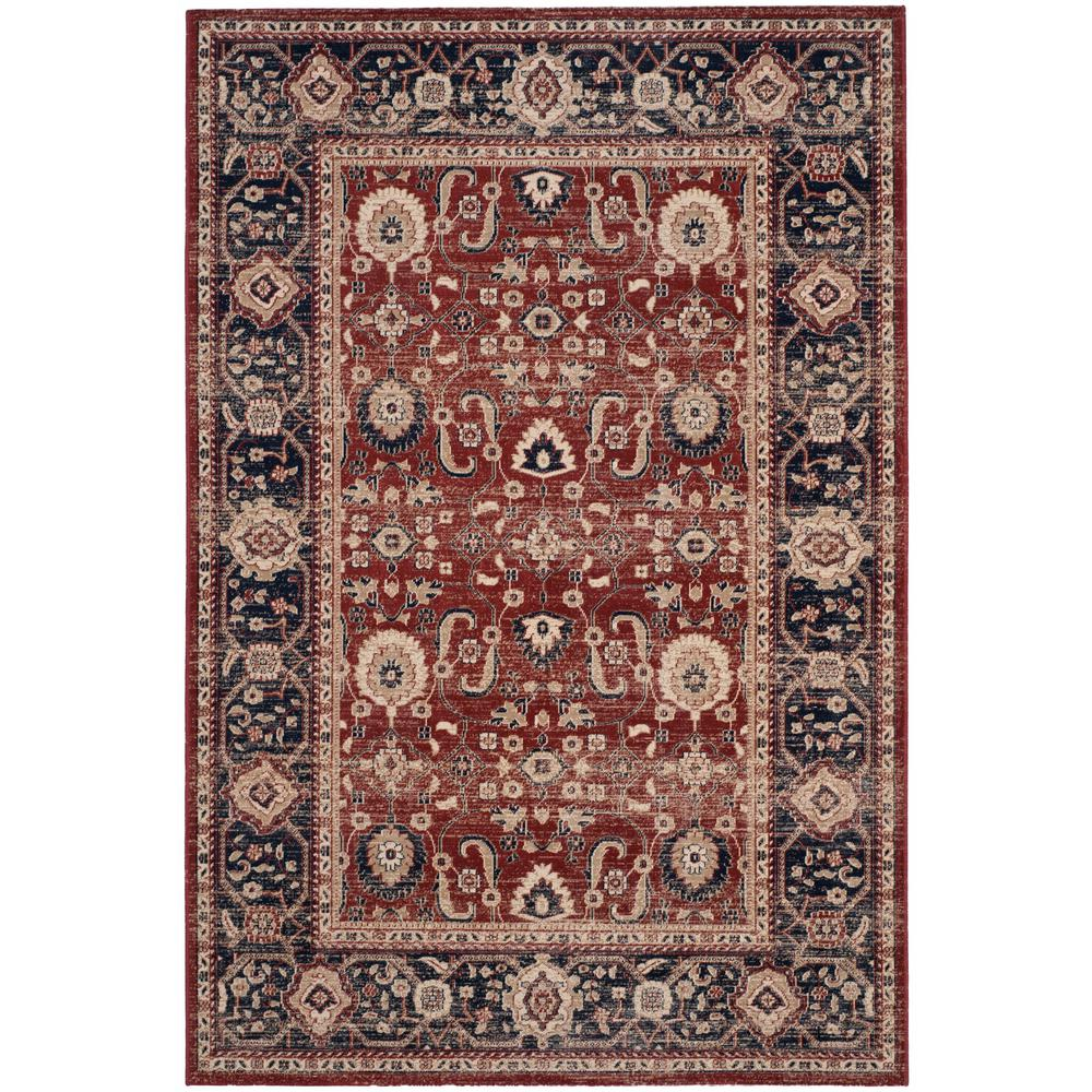 Artisan rust navy 7 ft x 9 ft area rug