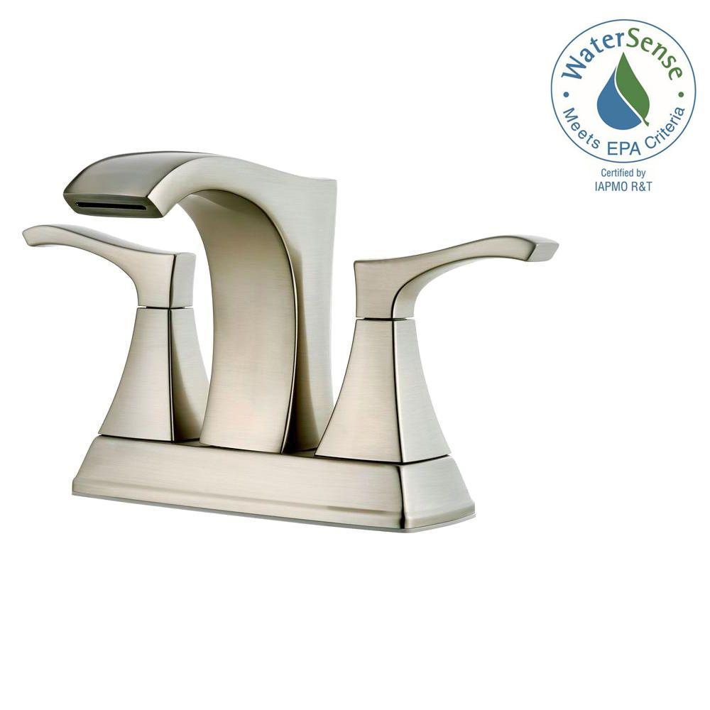 Awesome Centerset 2 Handle Bathroom Faucet In Brushed Nickel