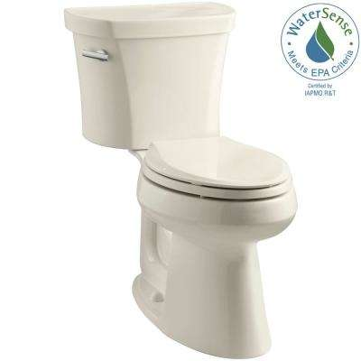 Highline 14 in. Rough-In 2-piece 1.28 GPF Single Flush Elongated Toilet in Almond