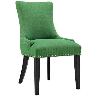 Lovely Marquis Kelly Green Fabric Dining Chair