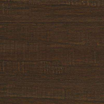 Take Home Sample - Hand Scraped Strand Woven Ceruse Solid Bamboo Flooring - 5 in. x 7 in.