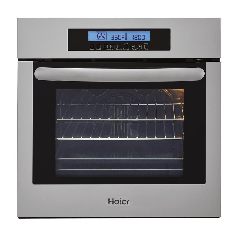 24 in. Single Electric Wall Oven with True European Convection in