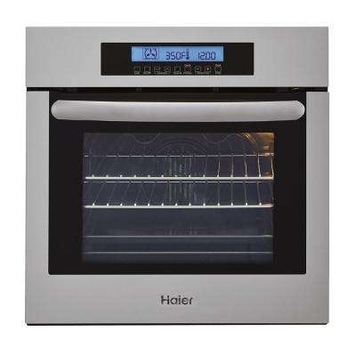 24 in. Single Electric Wall Oven with Convection in Stainless Steel