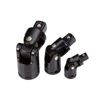 1/4, 3/8, 1/2 in. Drive Impact Universal Joint Set (3-Piece)