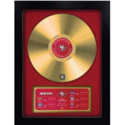 NFL San Francisco 49'ers 5-Time Super Bowl Champion Gold Record