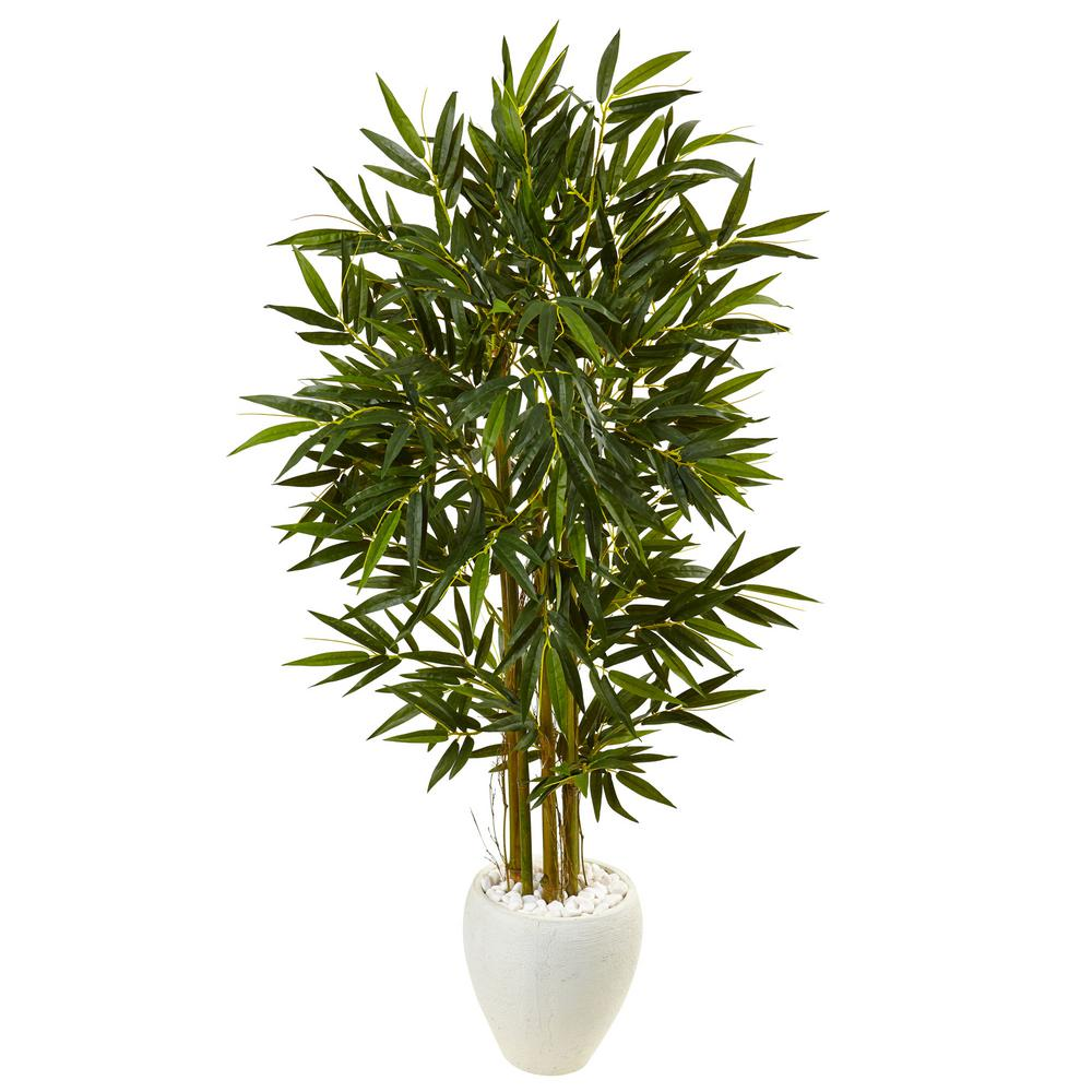 nearly natural indoor bamboo artificial tree in decorative planter-5805