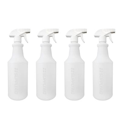 32 oz. All-Purpose Leak-Proof Plastic Spray Bottles with Adjustable No-Leak, Non-Clogging Nozzle (4-Pack)