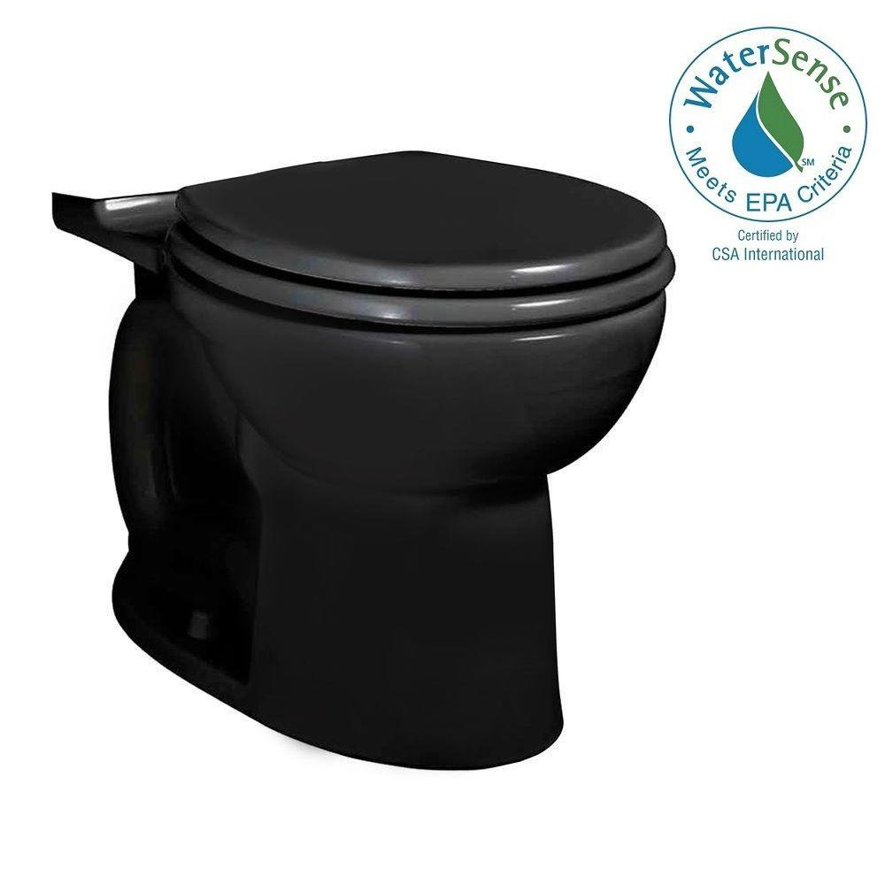 American Standard Cadet 3 FloWise Round Toilet Bowl Only in Black ...