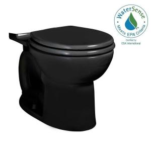 American Standard Cadet 3 FloWise Round Toilet Bowl Only in Black by American Standard