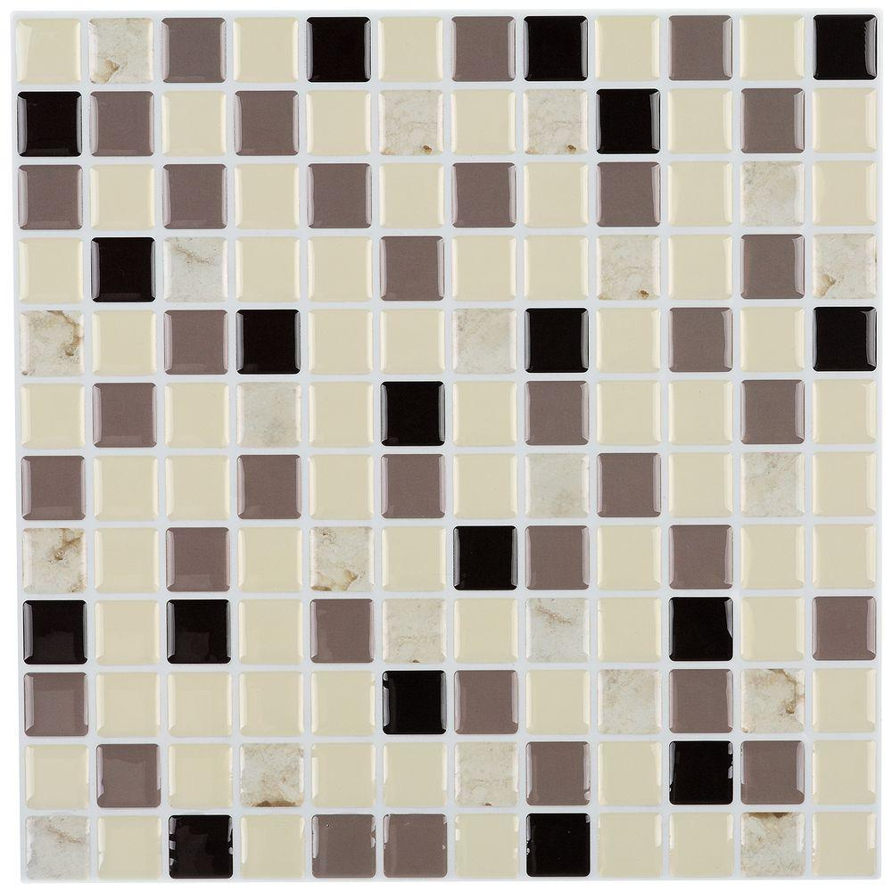 instant mosaic tile instant mosaic 12 in x 12 in peel and stick mosaic 781
