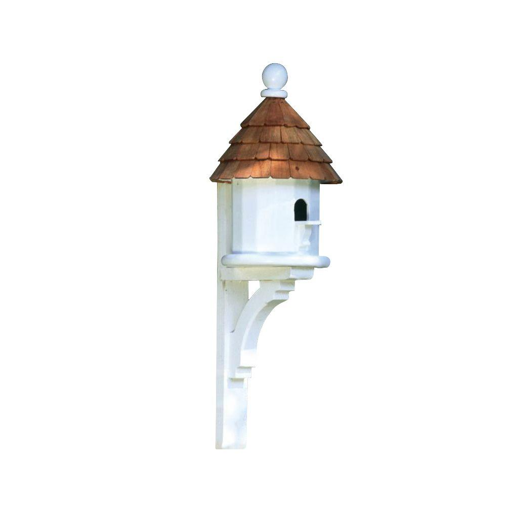 Lazy Hill Farm Designs Small Shingled White/Natural Birdhouse