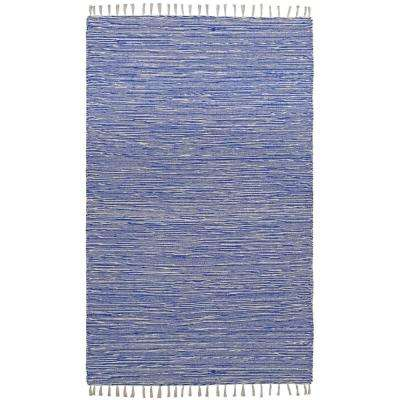 Blue Chenille 10 ft. x 14 ft. Area Rug