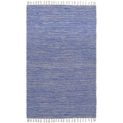 Blue Chenille 4 ft. x 6 ft. Area Rug
