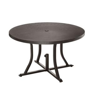 Beacon Park Brown 48 in. Diameter Round Steel Outdoor Patio Dining Table