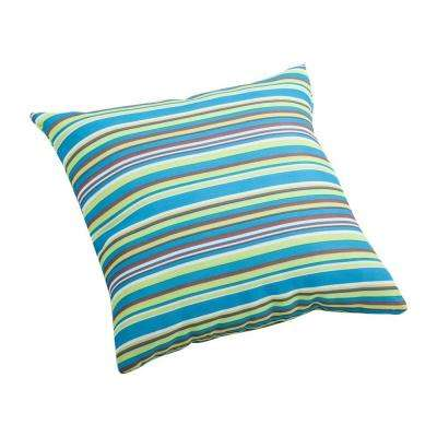 Multicolor stripe Puppy Small Outdoor Throw Pillow