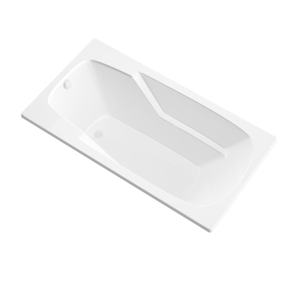 Universal Tubs Coral 5 ft. Acrylic Reversible Drain Rectangular Drop-in Non-Whirlpool Bathtub in White