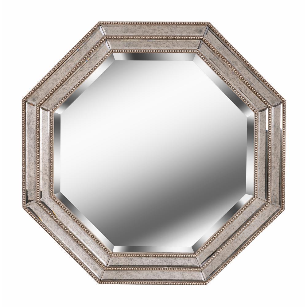 Tiber Octagonal Champagne Wall Mirror
