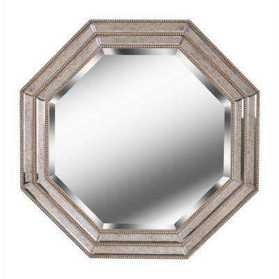 Tiber Octagonal Champagne Wall Mirror