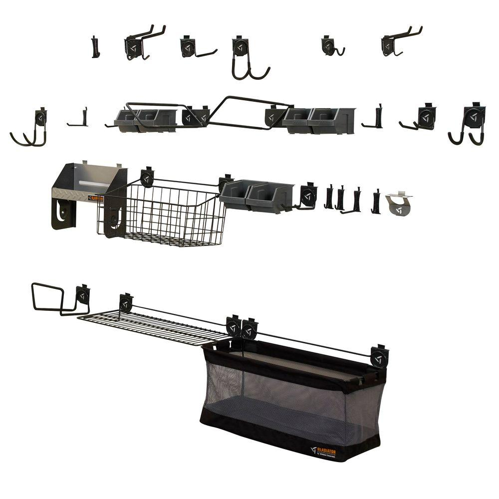 Gladiator GearTrack and GearWall Organization Mega Kit-DISCONTINUED