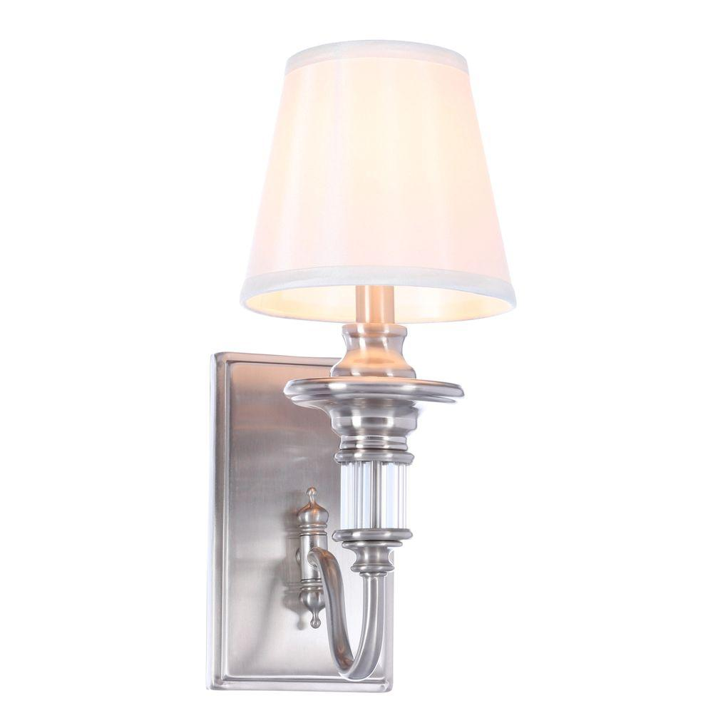 nickel products single high wall long street library polished arm jefferson sconce