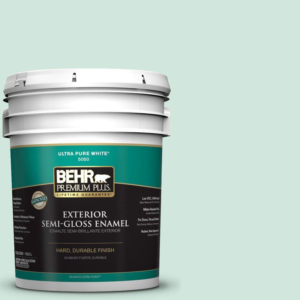 5-gal. #M420-2 Green Aqua Semi-Gloss Enamel Exterior Paint
