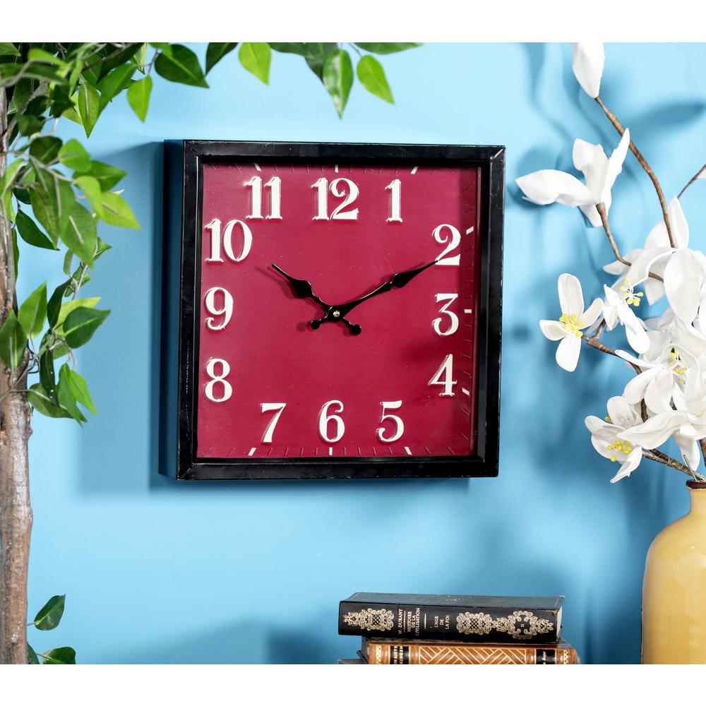 Multi-Colored Contemporary Analog Wall Clock