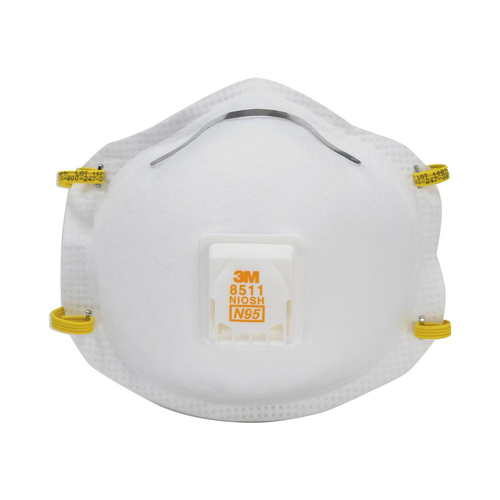 3M N95 Lawn and Garden Valved Respirator Dust Mask (2-Pack) (Case of 6)