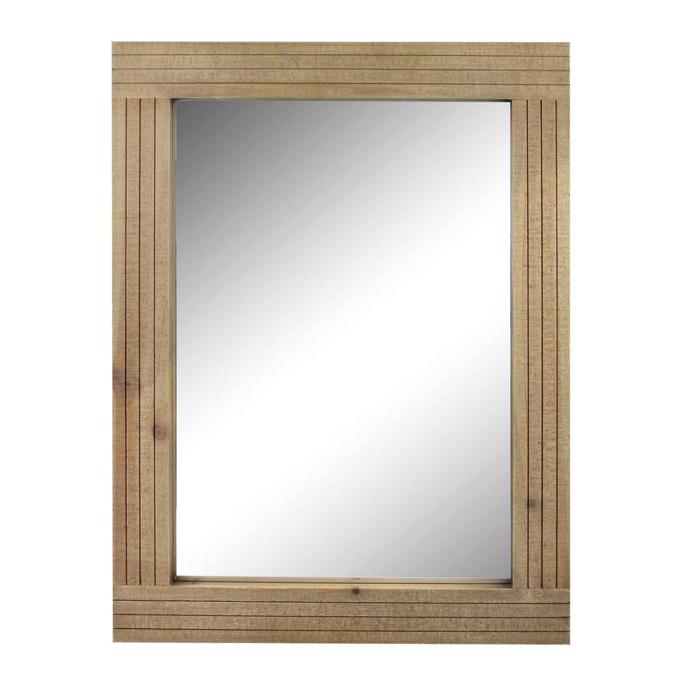 Rectangle Worn Wood Decorative Wall Mirror