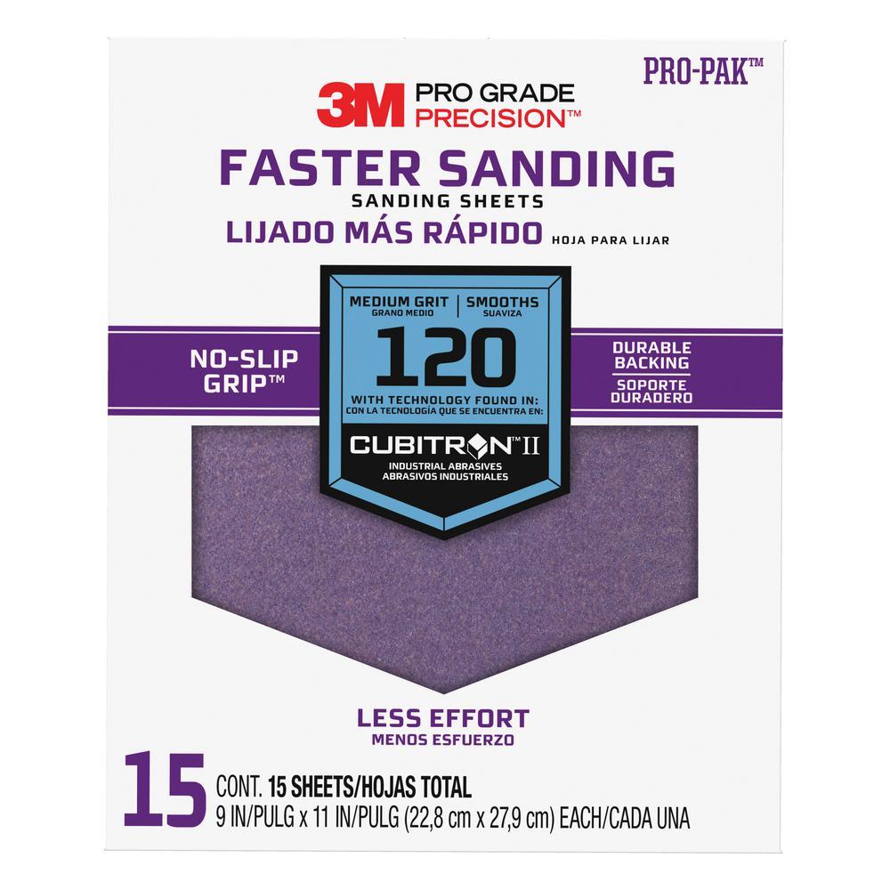 Pro Grade Precision 9 in. x 11 in. 120 Grit Medium
